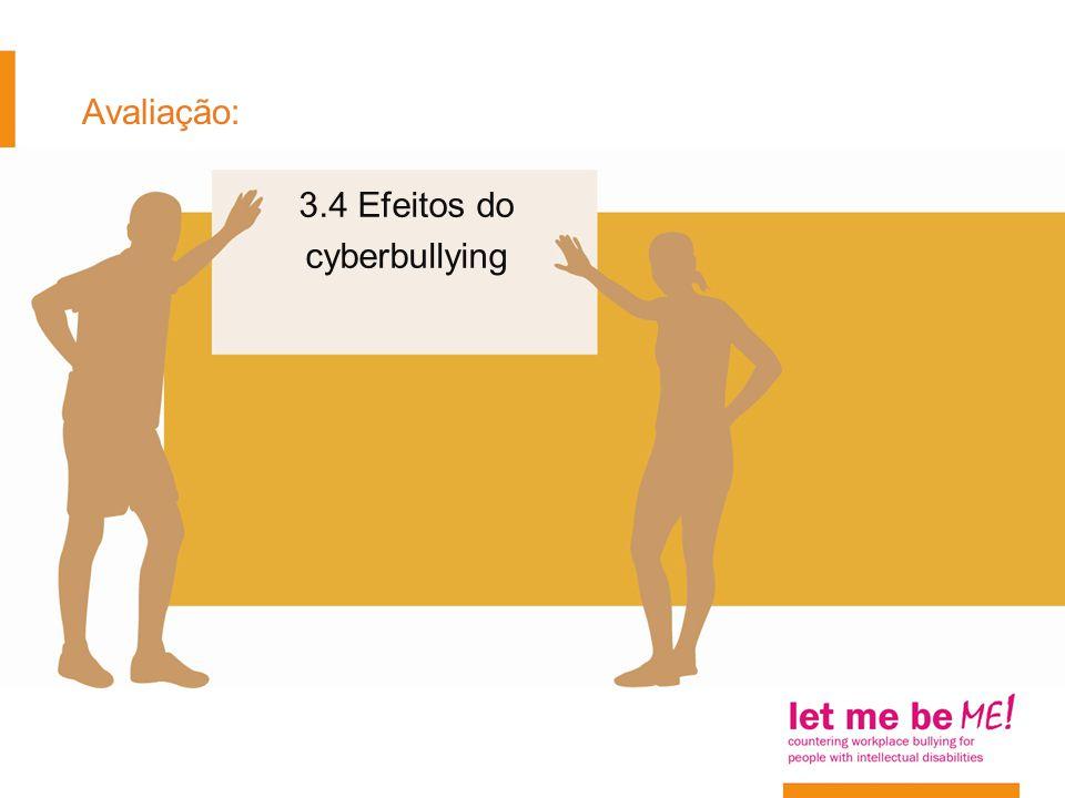 Avaliação: 3.4 Efeitos do cyberbullying