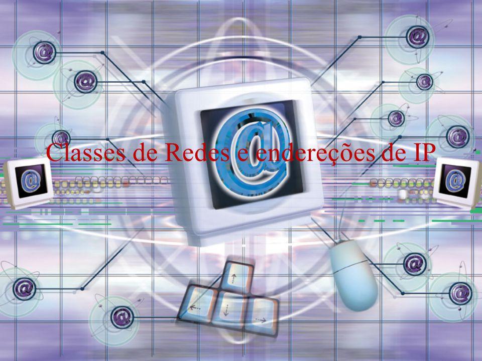 Classes de Redes e endereções de IP
