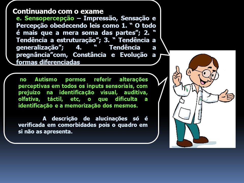 Continuando com o exame e.Sensopercepção – Impressão, Sensação e Percepção obedecendo leis como 1.