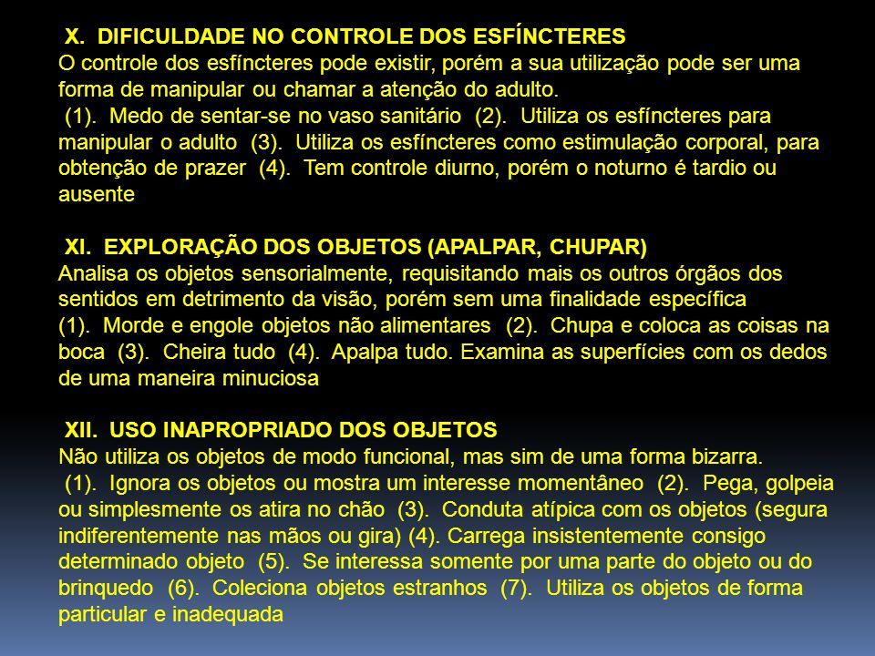 XIII.FALTA DE ATENÇÃO Dificuldades na atenção e concentração.