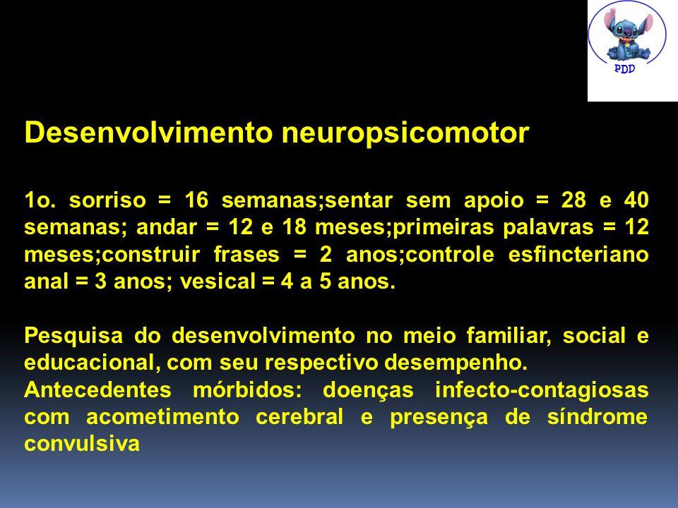 Desenvolvimento neuropsicomotor 1o.