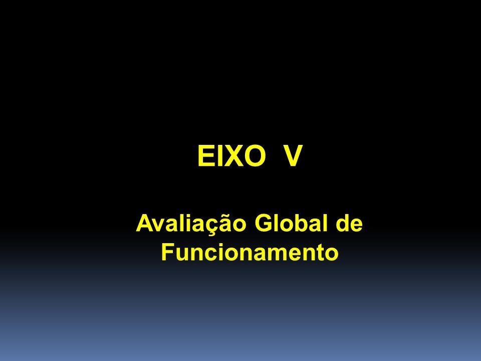 EIXO V Avaliação Global de Funcionamento