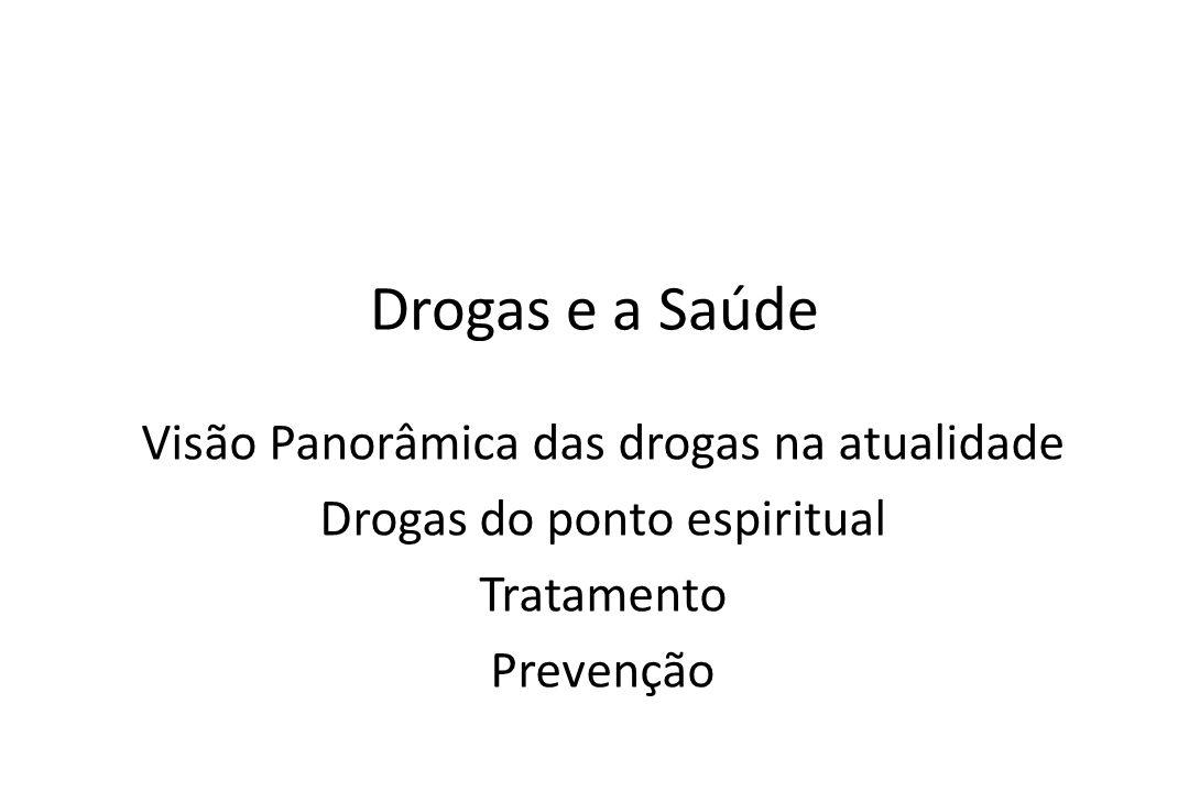 Drogas e a Saúde Visão Panorâmica das drogas na atualidade Drogas do ponto espiritual Tratamento Prevenção