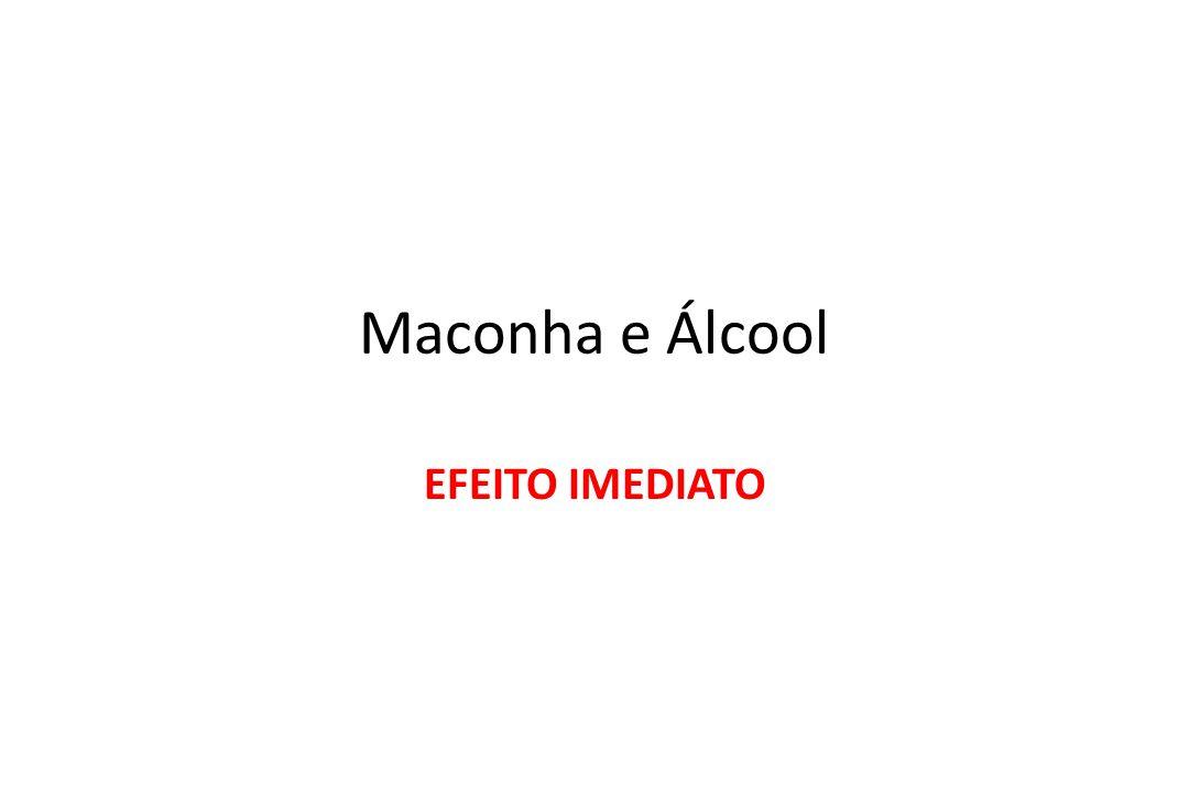 Maconha e Álcool EFEITO IMEDIATO