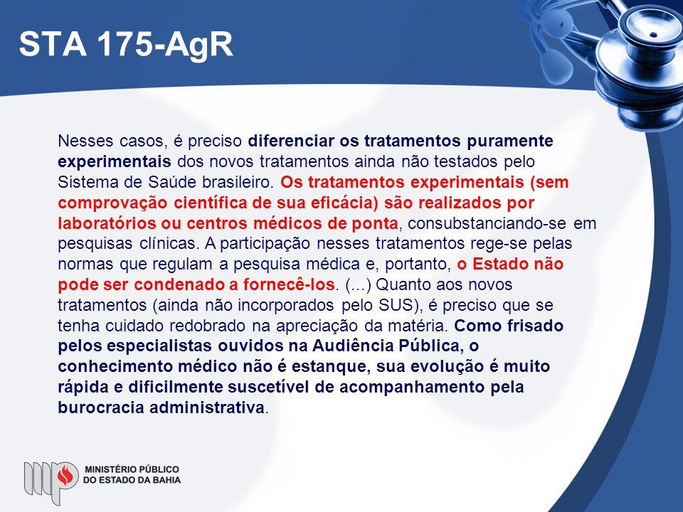 Nesses casos, é preciso diferenciar os tratamentos puramente experimentais dos novos tratamentos ainda não testados pelo Sistema de Saúde brasileiro.