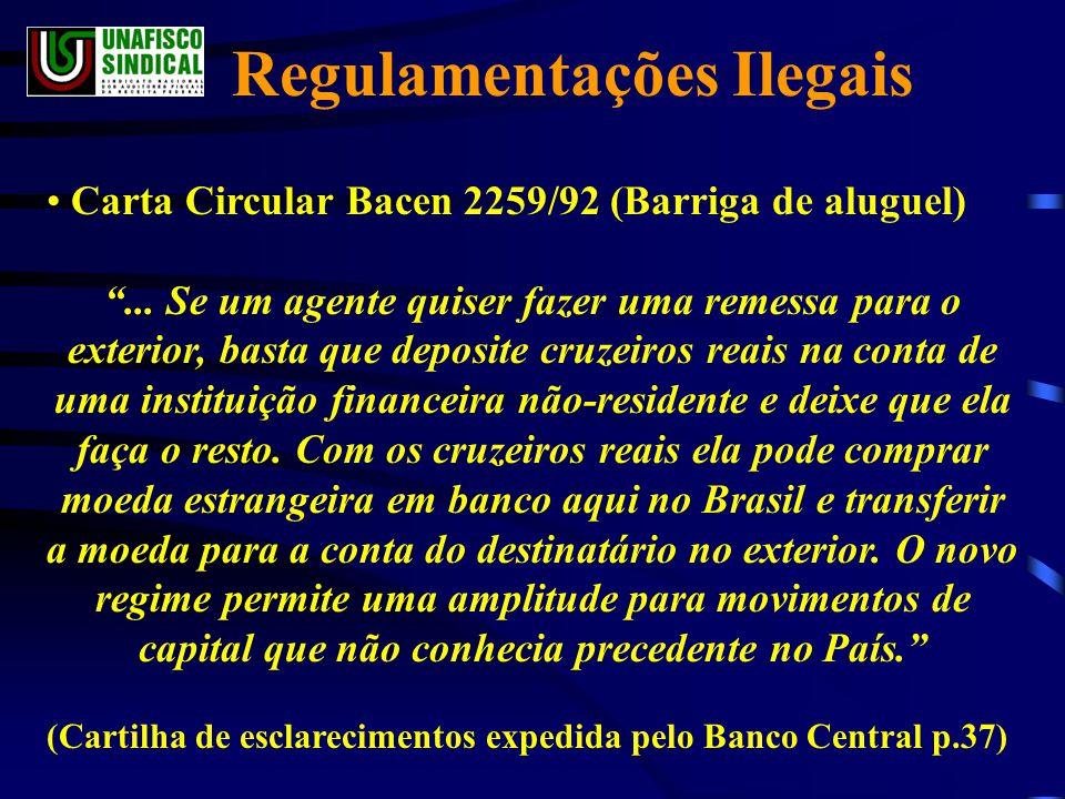 • Carta Circular Bacen 2259/92 (Barriga de aluguel) ...