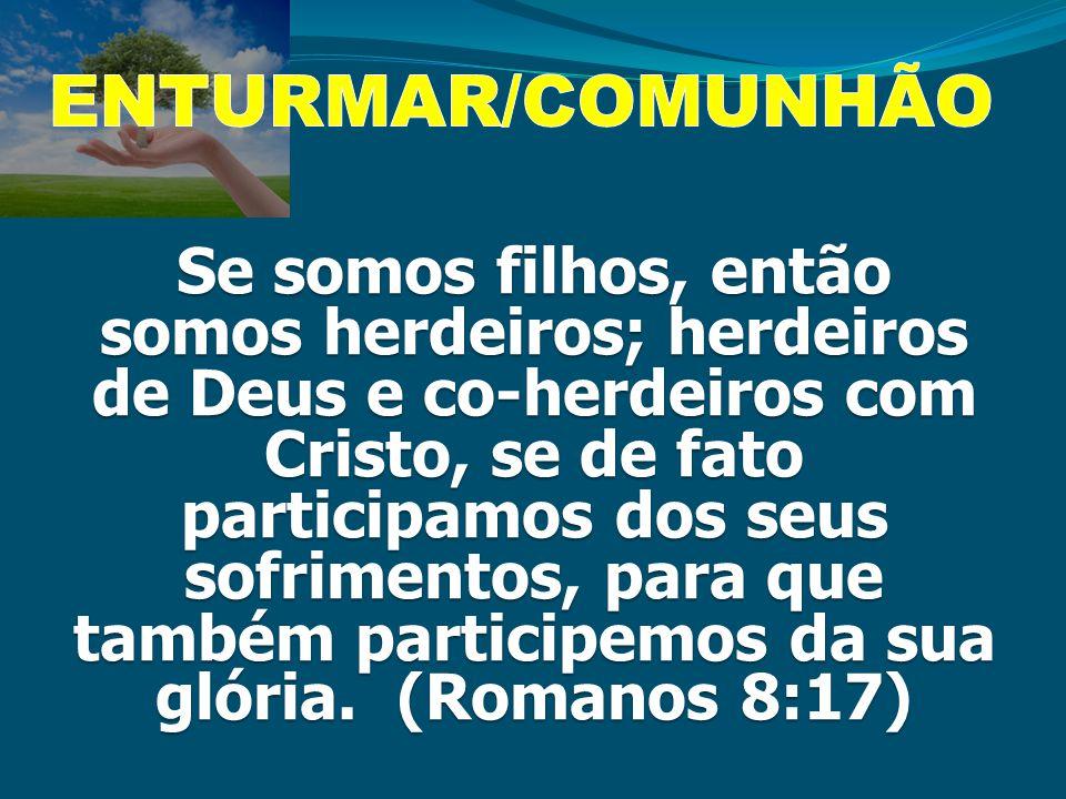 Se somos filhos, então somos herdeiros; herdeiros de Deus e co-herdeiros com Cristo, se de fato participamos dos seus sofrimentos, para que também par