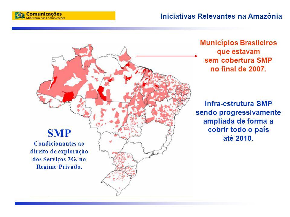 Municípios Brasileiros que estavam sem cobertura SMP no final de 2007.