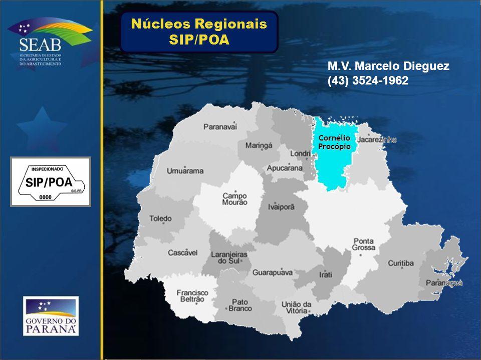 CornélioProcópio M.V. Marcelo Dieguez (43) 3524-1962 Núcleos Regionais SIP/POA