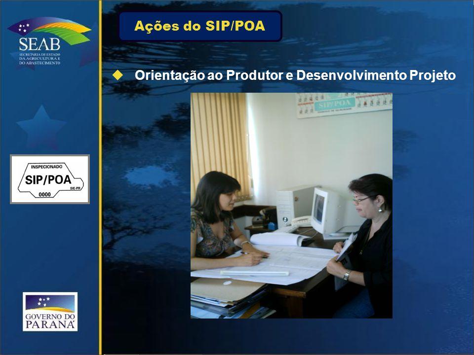  Orientação ao Produtor e Desenvolvimento Projeto Ações do SIP/POA