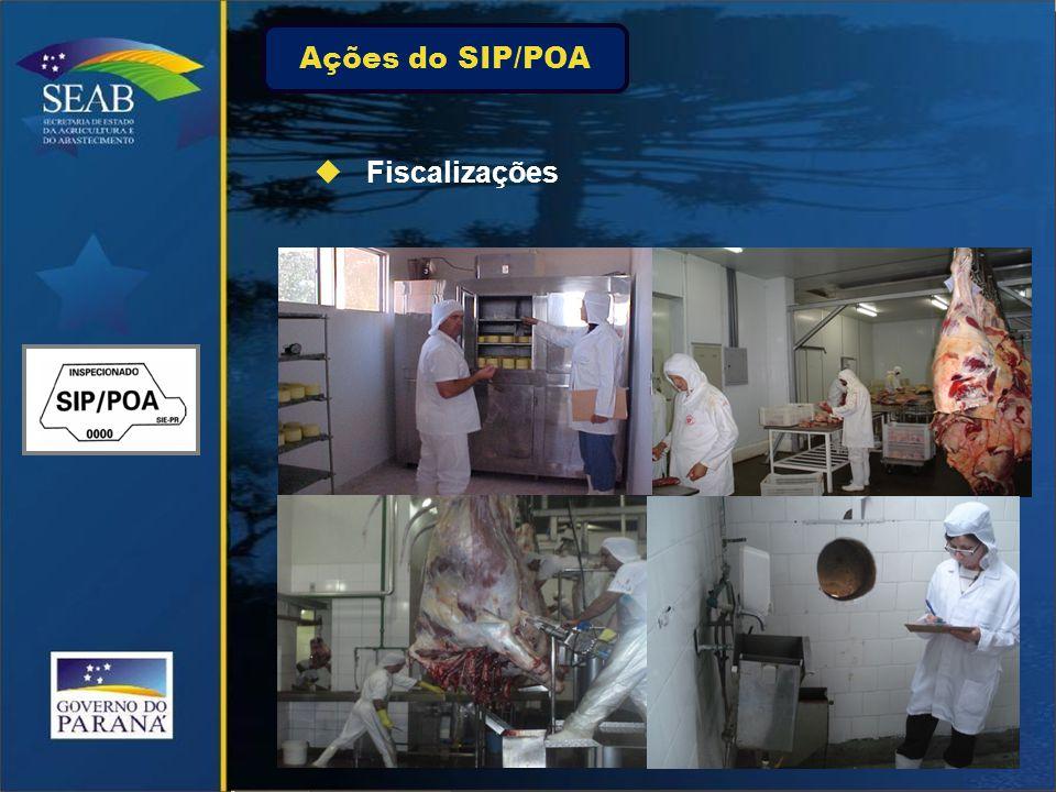 Ações do SIP/POA  Fiscalizações