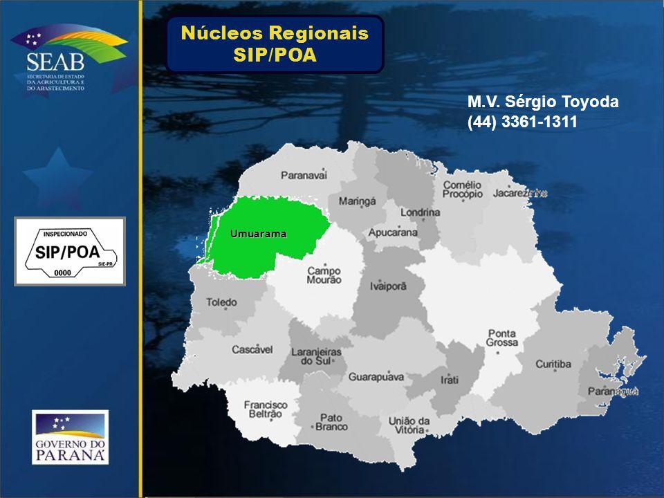 Jacarezinho M.V. Carlos Henrique Amaral (43) 3527-2311 Núcleos Regionais SIP/POA