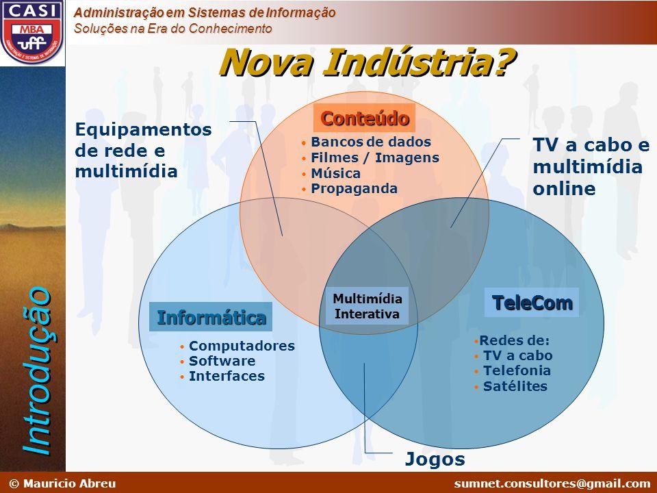 sumnet@microlink.com.br © Mauricio Abreusumnet.consultores@gmail.com Administração em Sistemas de Informação Soluções na Era do Conhecimento Nova Indú