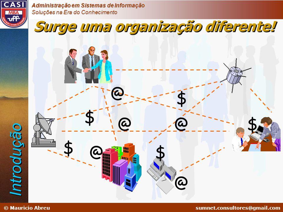 sumnet@microlink.com.br © Mauricio Abreusumnet.consultores@gmail.com Administração em Sistemas de Informação Soluções na Era do Conhecimento Surge uma