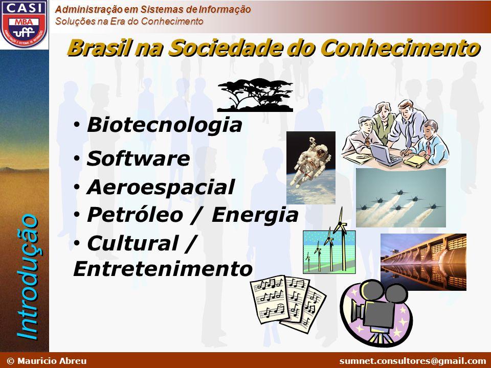 sumnet@microlink.com.br © Mauricio Abreusumnet.consultores@gmail.com Administração em Sistemas de Informação Soluções na Era do Conhecimento • Biotecn
