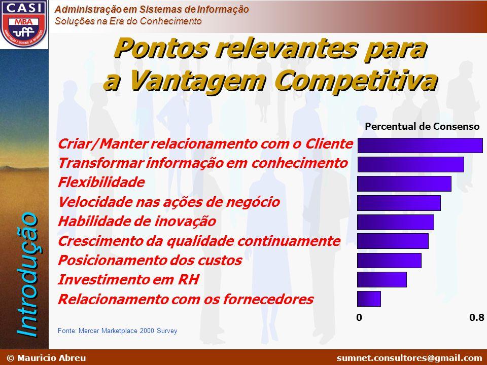 sumnet@microlink.com.br © Mauricio Abreusumnet.consultores@gmail.com Administração em Sistemas de Informação Soluções na Era do Conhecimento Pontos re