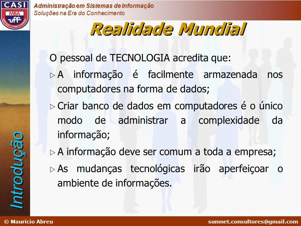 sumnet@microlink.com.br © Mauricio Abreusumnet.consultores@gmail.com Administração em Sistemas de Informação Soluções na Era do Conhecimento O pessoal