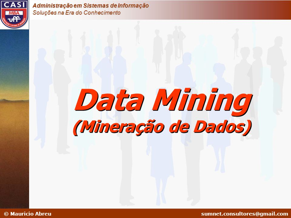 sumnet@microlink.com.br © Mauricio Abreusumnet.consultores@gmail.com Administração em Sistemas de Informação Soluções na Era do Conhecimento Data Mini