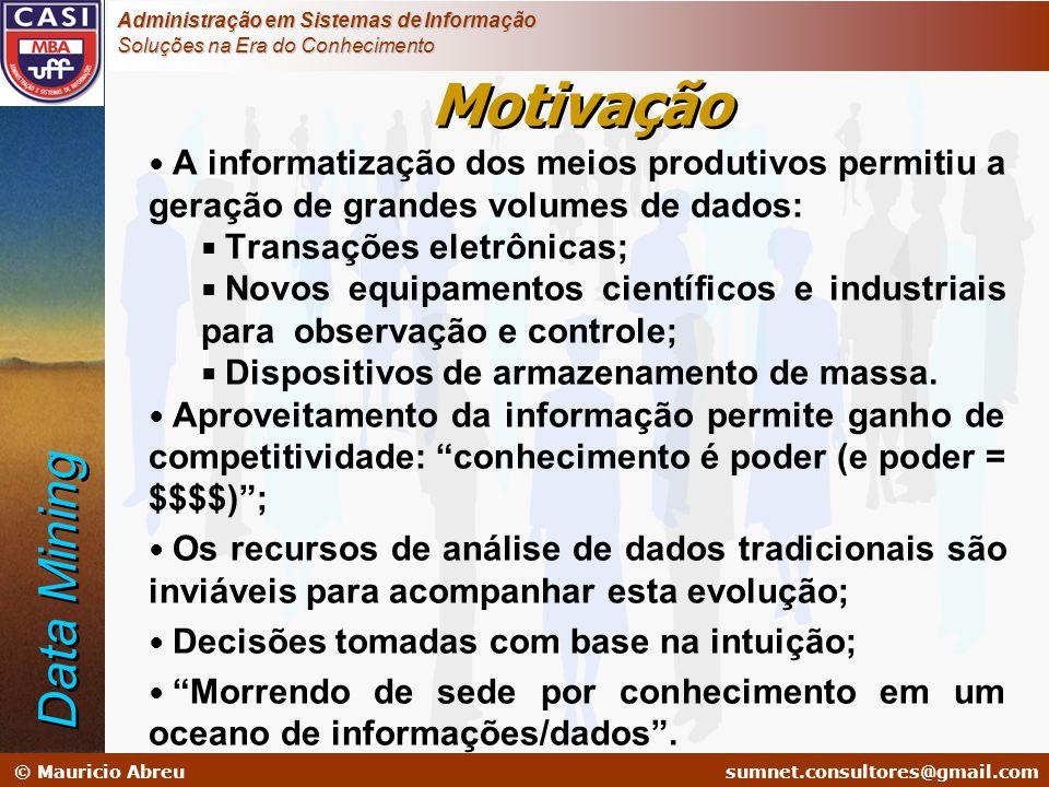 sumnet@microlink.com.br © Mauricio Abreusumnet.consultores@gmail.com Administração em Sistemas de Informação Soluções na Era do Conhecimento Motivação