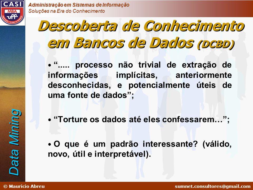 sumnet@microlink.com.br © Mauricio Abreusumnet.consultores@gmail.com Administração em Sistemas de Informação Soluções na Era do Conhecimento Descobert