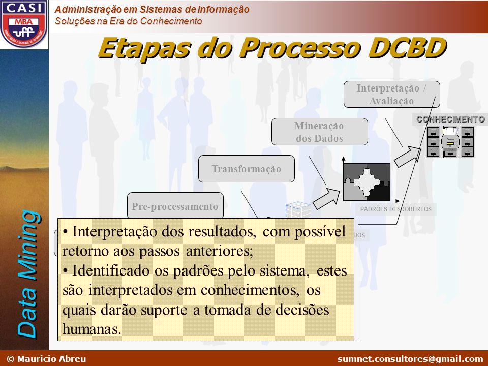 sumnet@microlink.com.br © Mauricio Abreusumnet.consultores@gmail.com Administração em Sistemas de Informação Soluções na Era do Conhecimento Etapas do