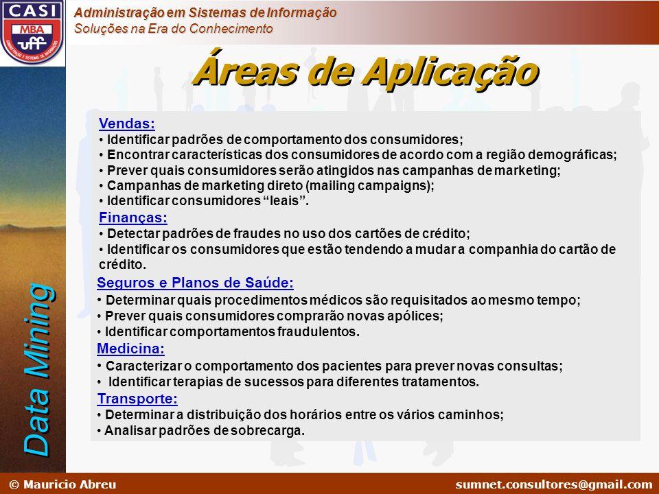 sumnet@microlink.com.br © Mauricio Abreusumnet.consultores@gmail.com Administração em Sistemas de Informação Soluções na Era do Conhecimento Vendas: •