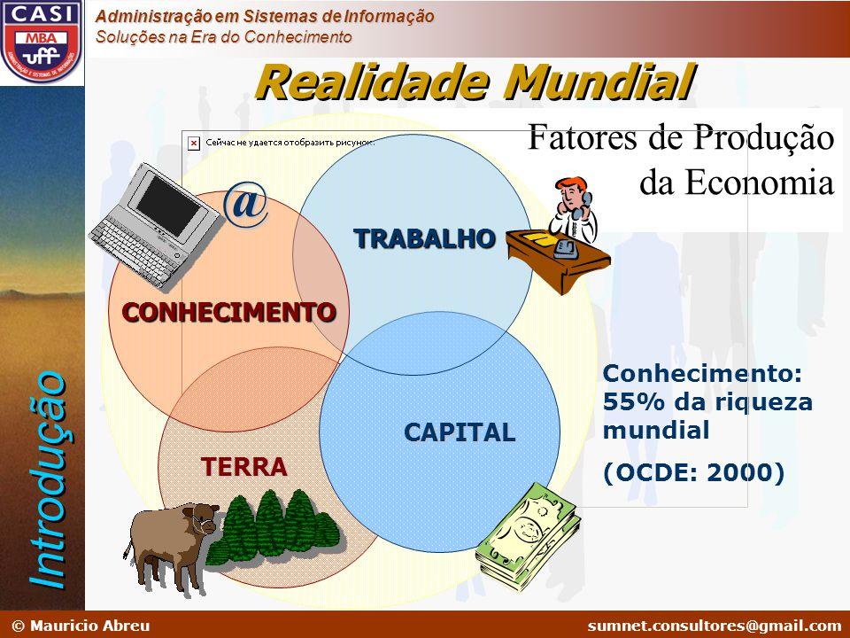 sumnet@microlink.com.br © Mauricio Abreusumnet.consultores@gmail.com Administração em Sistemas de Informação Soluções na Era do Conhecimento Fatores d