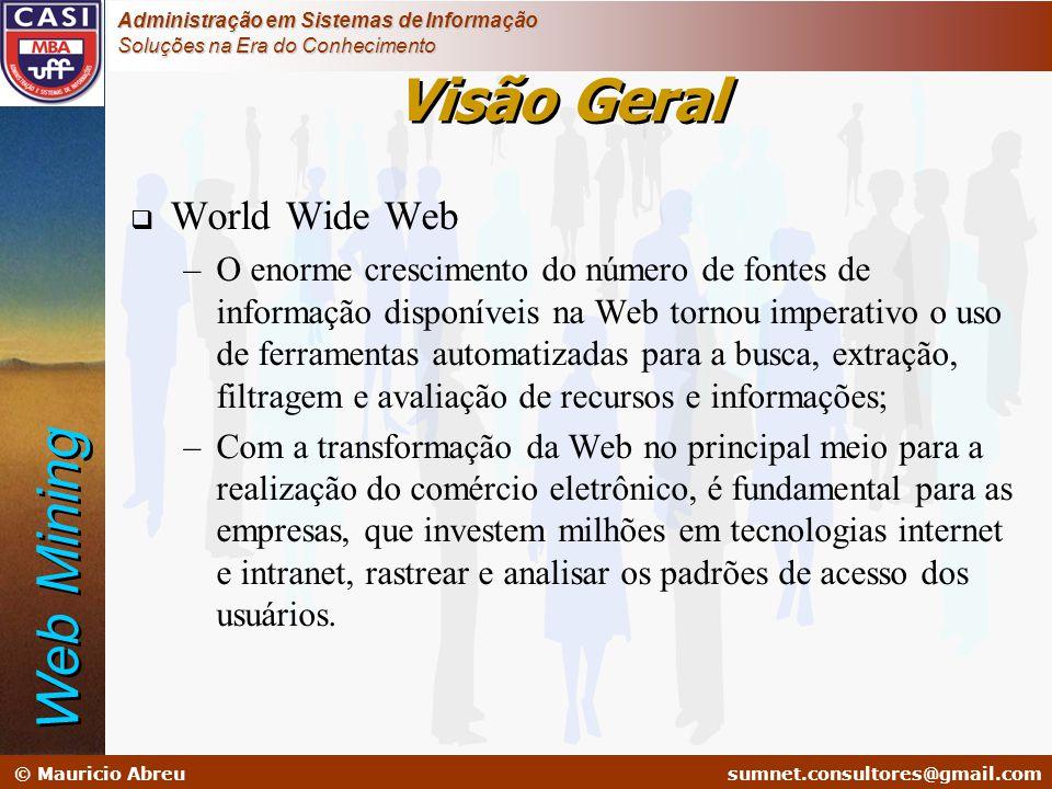 sumnet@microlink.com.br © Mauricio Abreusumnet.consultores@gmail.com Administração em Sistemas de Informação Soluções na Era do Conhecimento Visão Ger