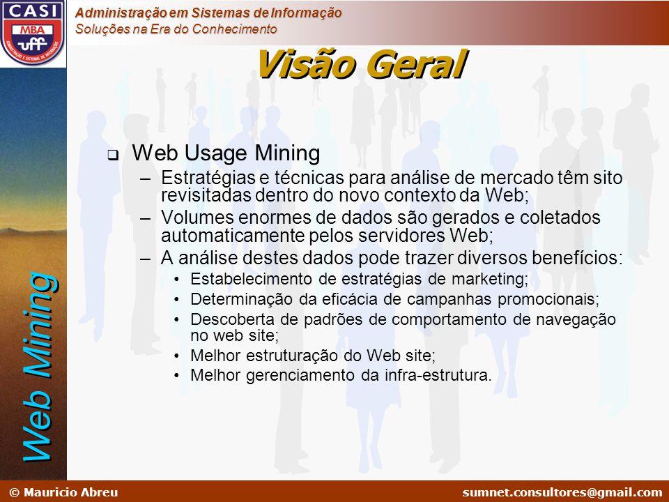 sumnet@microlink.com.br © Mauricio Abreusumnet.consultores@gmail.com Administração em Sistemas de Informação Soluções na Era do Conhecimento  Web Usa