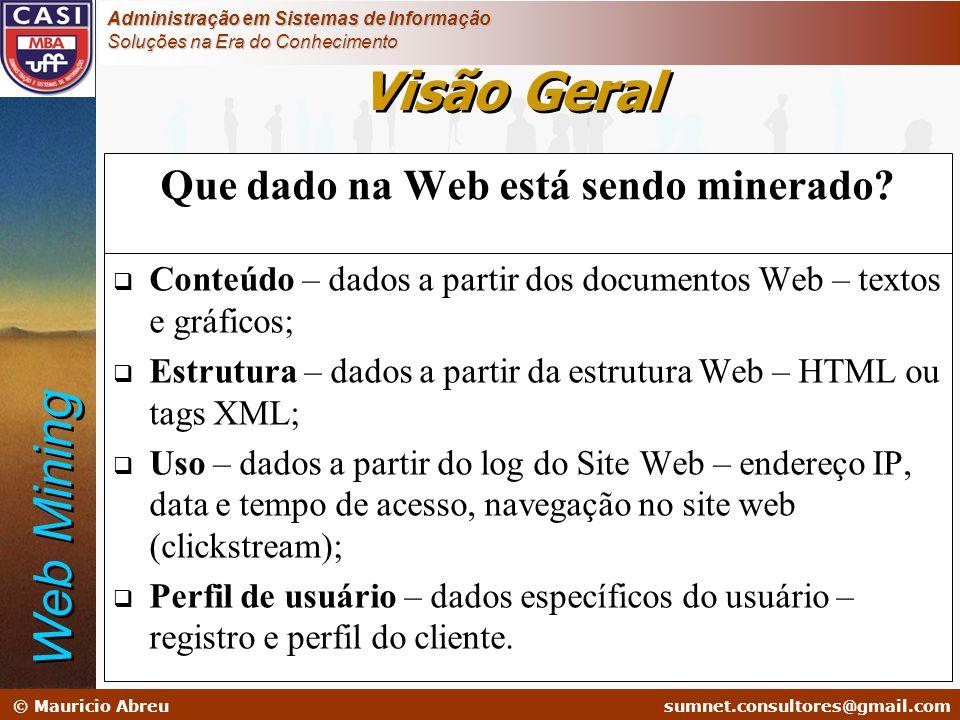 sumnet@microlink.com.br © Mauricio Abreusumnet.consultores@gmail.com Administração em Sistemas de Informação Soluções na Era do Conhecimento Que dado