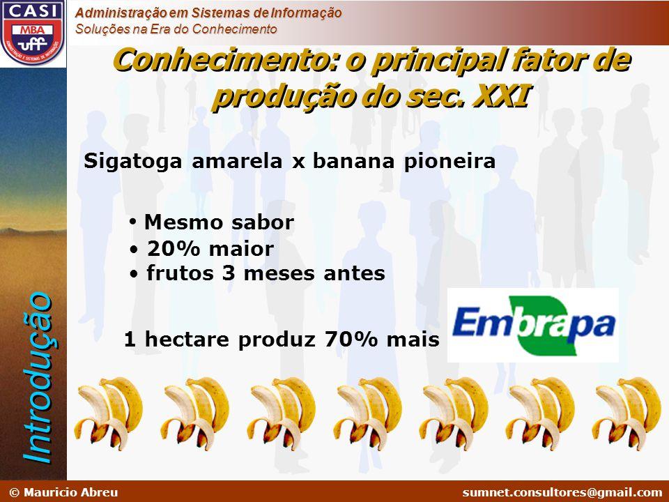 sumnet@microlink.com.br © Mauricio Abreusumnet.consultores@gmail.com Administração em Sistemas de Informação Soluções na Era do Conhecimento Sigatoga