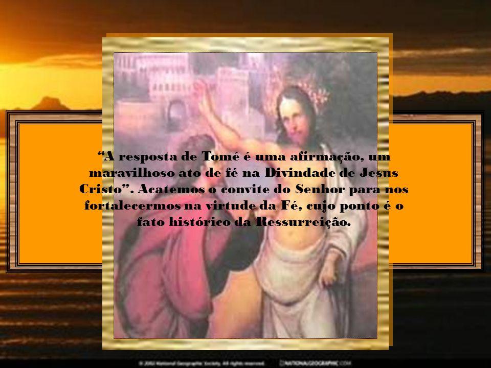 Tocando o discípulo duvidador as feridas da carne no seu Mestre, sarou em nós as feridas da incredulidade. Assim o discípulo, duvidando e palpando, converteu-se em testemunha da verdadeira ressurreição.