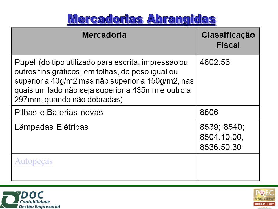 MercadoriaClassificação Fiscal Papel (do tipo utilizado para escrita, impressão ou outros fins gráficos, em folhas, de peso igual ou superior a 40g/m2