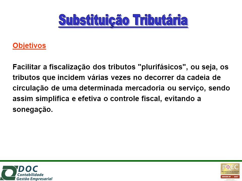 Objetivos Facilitar a fiscalização dos tributos