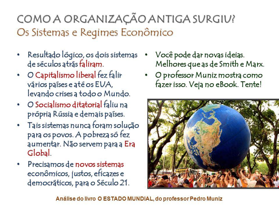 COMO A ORGANIZAÇÃO ANTIGA SURGIU? Os Sistemas e Regimes Econômico • Anos 1800, as ideias socialistas proliferam com rapidez e vigor. • Isso força o ca