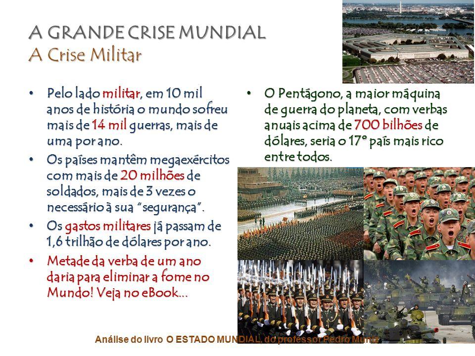 A GRANDE CRISE MUNDIAL A Falência Ambiental • Pelo lado ambiental, estamos destruindo as terras, os mares, os rios, as florestas, a atmosfera, as cama