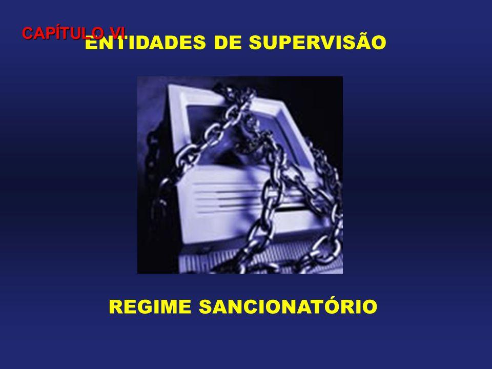 ENTIDADES DE SUPERVISÃO REGIME SANCIONATÓRIO CAPÍTULO VI
