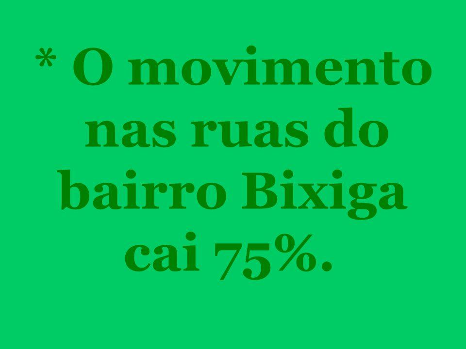 * O movimento nas ruas do bairro Bixiga cai 75%.