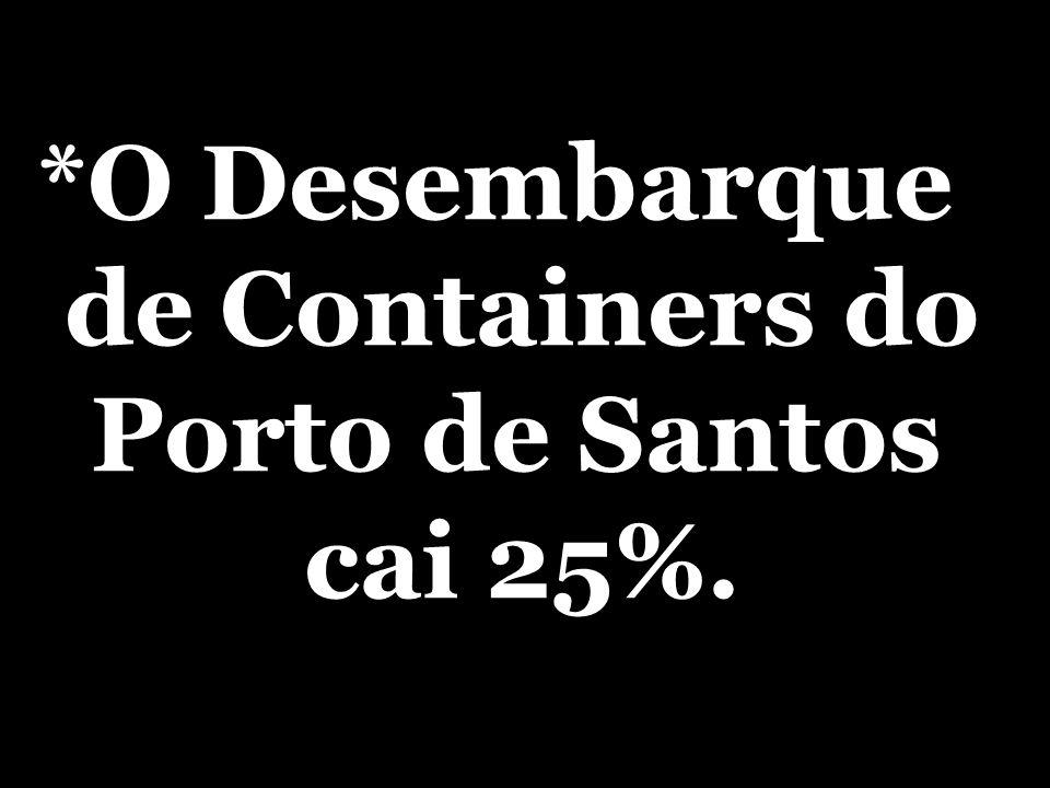 *O Desembarque de Containers do Porto de Santos cai 25%.
