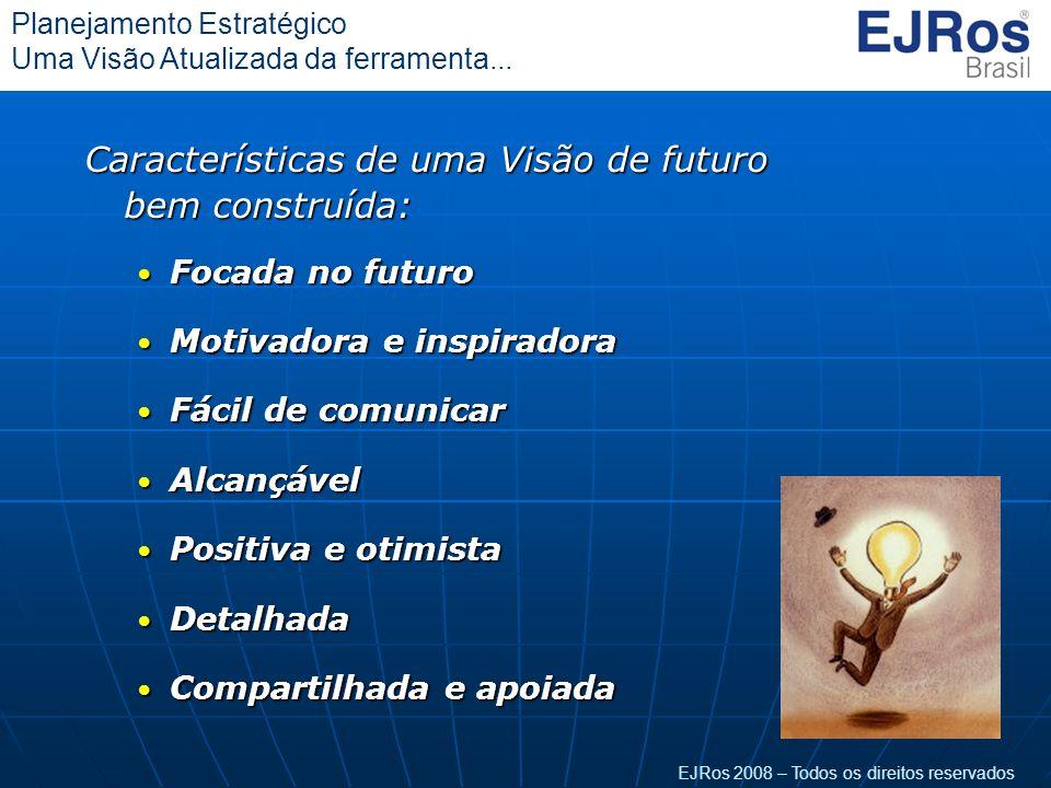 EJRos 2008 – Todos os direitos reservados Planejamento Estratégico Uma Visão Atualizada da ferramenta... Características de uma Visão de futuro bem co