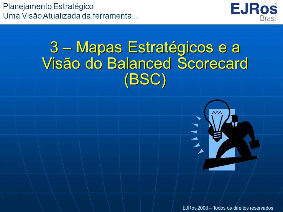 EJRos 2008 – Todos os direitos reservados Planejamento Estratégico Uma Visão Atualizada da ferramenta... 3 – Mapas Estratégicos e a Visão do Balanced