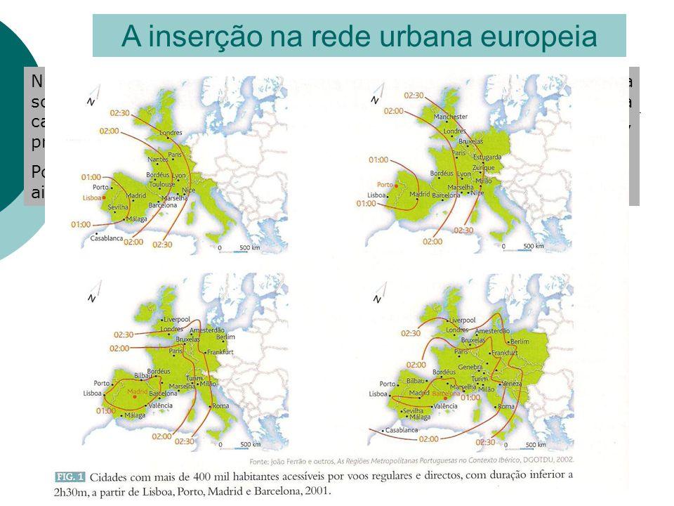 A inserção na rede urbana europeia Numa lógica de integração na União Europeia e de Globalização da sociedade, a dinâmica económica das regiões depend
