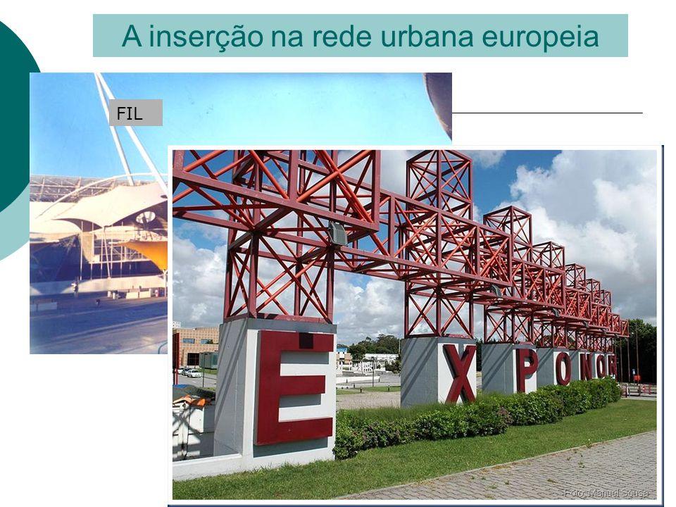 A inserção na rede urbana europeia FIL