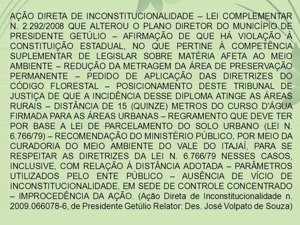 AÇÃO DIRETA DE INCONSTITUCIONALIDADE – LEI COMPLEMENTAR N.