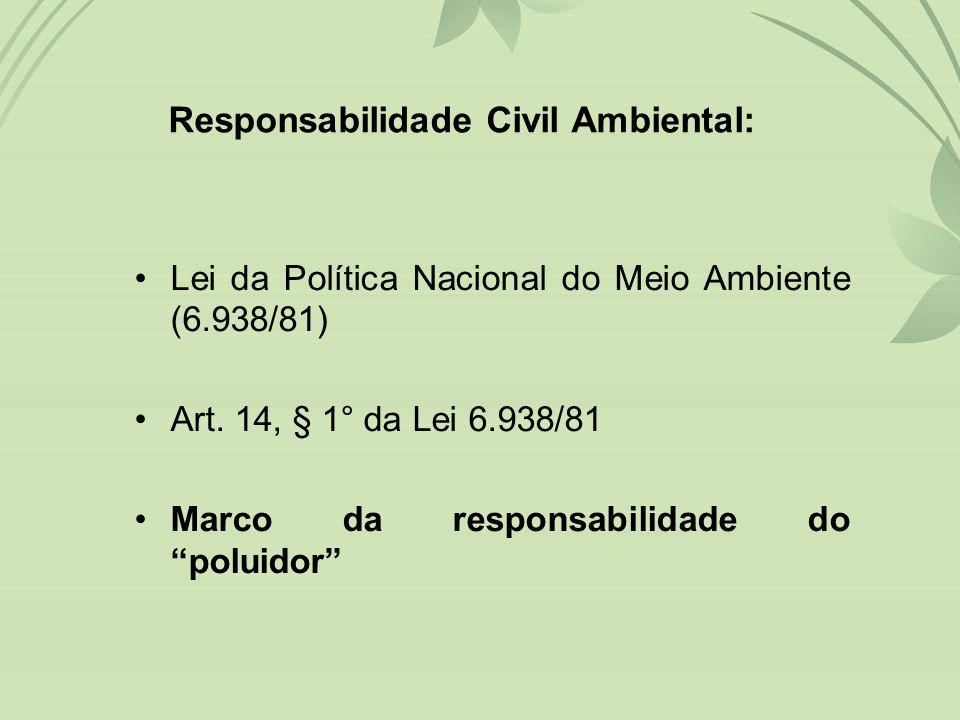•Lei da Política Nacional do Meio Ambiente (6.938/81) •Art.