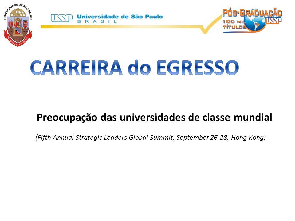 UNIVERSIDADE DE CLASSE MUNDIAL: DESEMPENHO DOS EGRESSOS: Conhecimento + comunicação + capacidade de supervisão