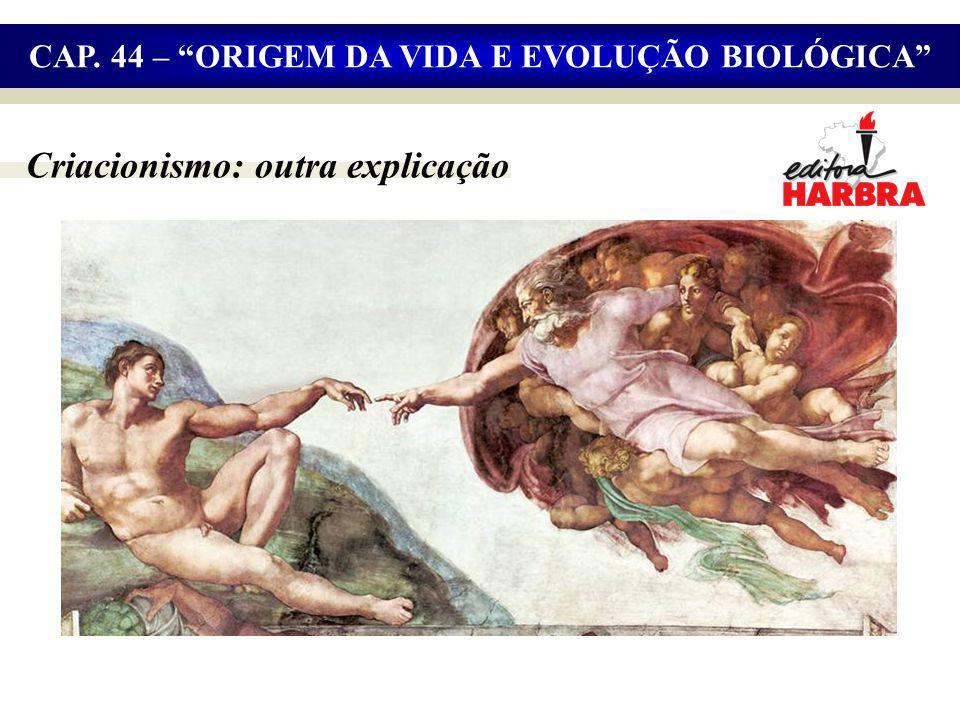 Criacionismo: outra explicação CAP. 44 – ORIGEM DA VIDA E EVOLUÇÃO BIOLÓGICA