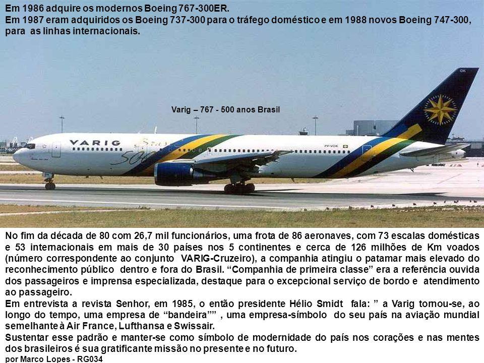 No setor internacional, outros grandes avanços foram a compra dos Boeing 747-200 em 1981, e dos 747-300, em 1985.