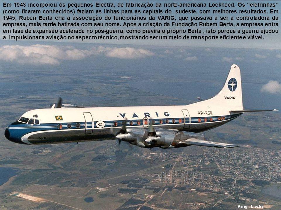 Convair 240- RG123 VARIG Convair 240 Com o passar do tempo, Otto Meyer sentiu a necessidade de expandir a empresa, e operar aviões terrestres, que eram mais rentáveis.