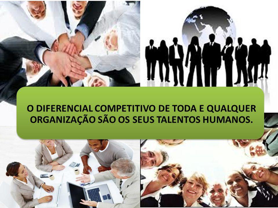 O DIFERENCIAL COMPETITIVO DE TODA E QUALQUER ORGANIZAÇÃO SÃO OS SEUS TALENTOS HUMANOS.